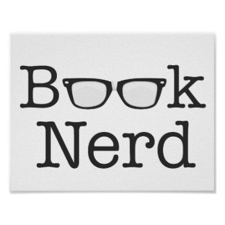 Book Nerd Funny Spectacles Text Poster
