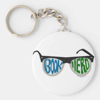 Book Nerd Glasses Basic Round Button Keychain