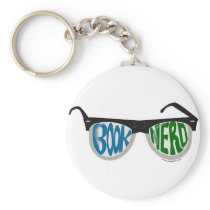 Book Nerd Glasses Keychain