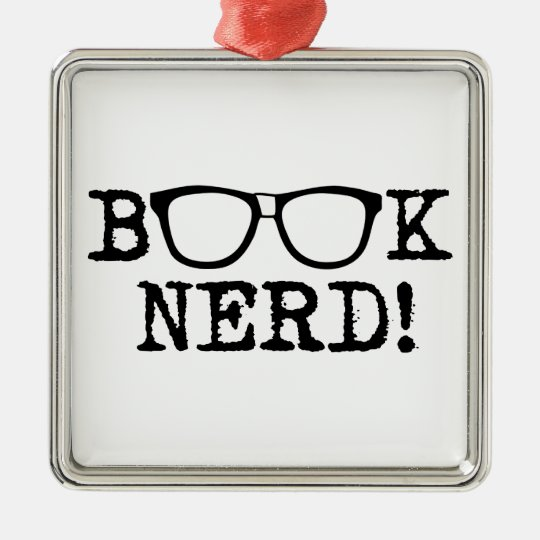 Book Nerd Metal Ornament