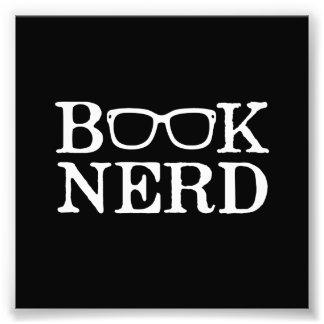 Book Nerd Nerdy Glasses Photo Print