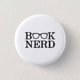 Book Nerd Nerdy Glasses Pinback Button