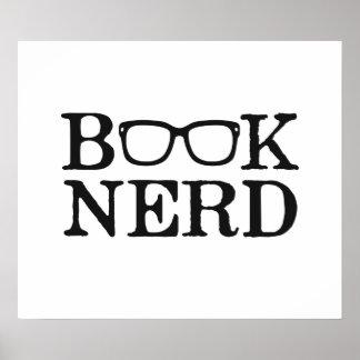 Book Nerd Nerdy Glasses Poster