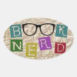 Book Nerd Oval Sticker
