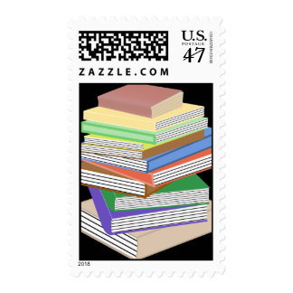 Book Nerd Stack Postage Stamp