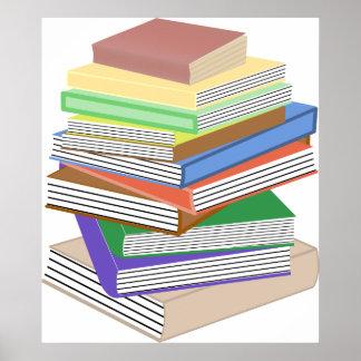 Book Nerd Stack Poster