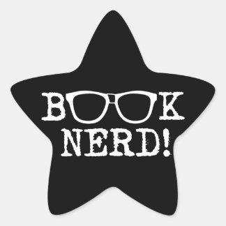 Book Nerd Star Sticker