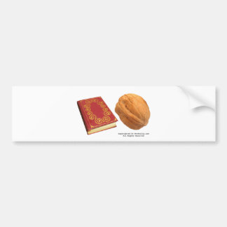 Book Nut Bumper Sticker