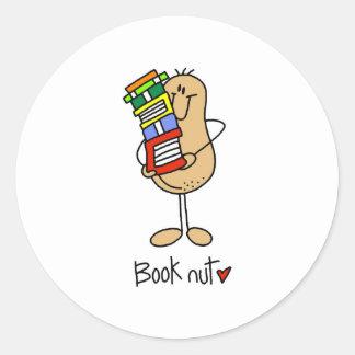 Book Nut Classic Round Sticker