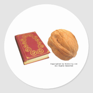 Book Nut Classic Round Sticker