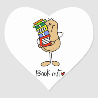 Book Nut T-shirts and Gifts Heart Sticker