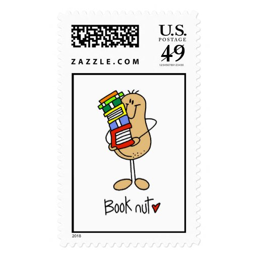 Book Nut T-shirts and Gifts Stamps