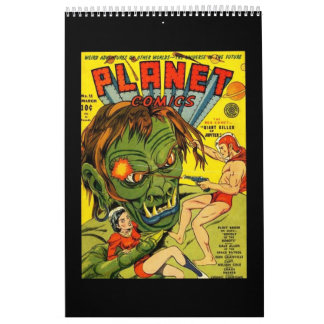 Book Of 14 Vintage Comic Book Cover Posters Calendar