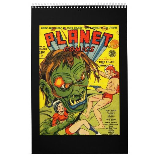 Classic Comic Book Cover Prints : Book of vintage comic cover posters calendar zazzle