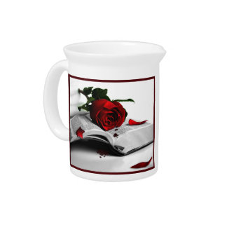 Book of Broken Hearts Beverage Pitcher