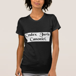 Book of canon law tee shirt