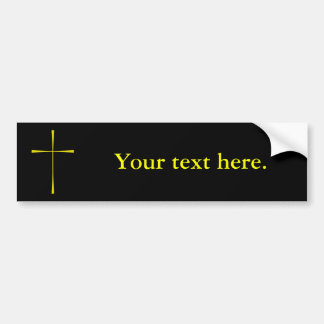 Book of Common Prayer Cross Bumper Sticker