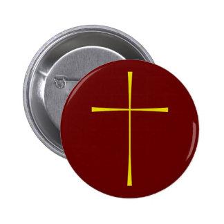 Book of Common Prayer Cross 2 Inch Round Button