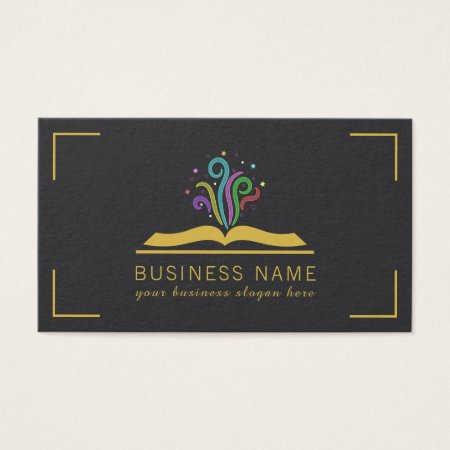 Bookstore business cards business cards galore magic book of dreams book store business cards reheart Image collections
