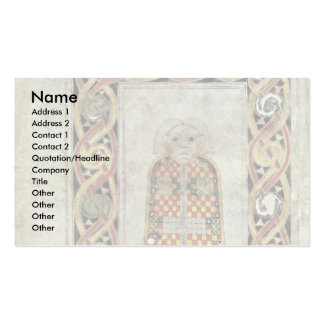 Book Of Durrow: Matthew Icon By Meister Des Book O Business Card