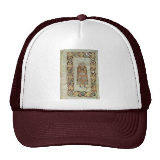 Book Of Durrow: Matthew Icon By Meister Des Book O Trucker Hat