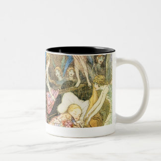 Book of Fairy Poetry, by Warwack Goble Two-Tone Coffee Mug
