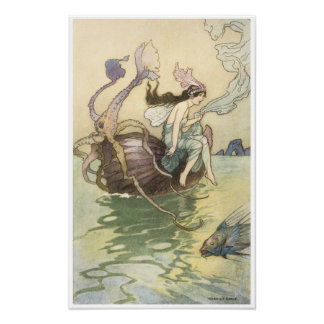 Book of Fairy Poetry, Nautilus is my Boat Poster