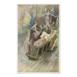 Book of Fairy Poetry, Warwick Goble Print