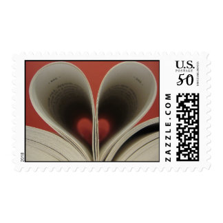 Book of Hearts Postage Stamps