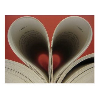 Book of Hearts Postcard