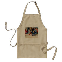 BOOK OF HOURS 16TH CENTURY SNOWBALL FIGHT ADULT APRON