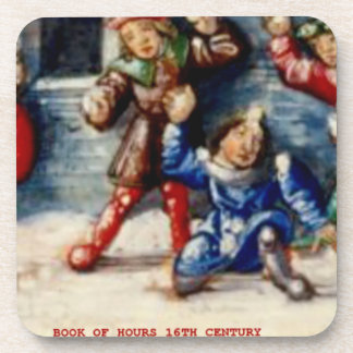 BOOK OF HOURS 16TH CENTURY SNOWBALL FIGHT COASTER