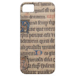 Book of Hours Medieval Latin Writing iPhone 5 Cover