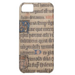 Book of Hours Medieval Latin Writing Cover For iPhone 5C