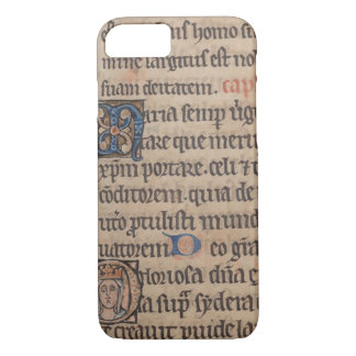 Book of Hours Medieval Latin Writing iPhone 8/7 Case