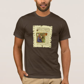 Book of Hours Medieval Manuscript T-Shirt