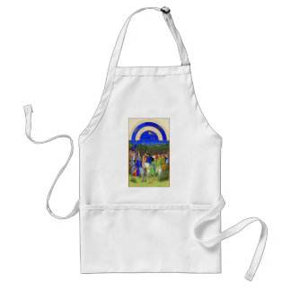 Book of Hours - Month of May Adult Apron