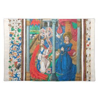 Book of Hours SR001 #1 Illuminated Manuscript Art Cloth Place Mat