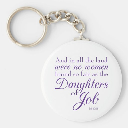 Book of Job Bible Verse Keychain