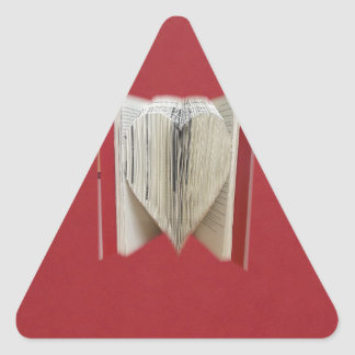 Book Of Love Heart Triangle Sticker