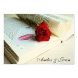 "'Book of love' wedding invitation card 5"" X 7"" Invitation Card"