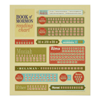 Book of Mormon Reading Chart Poster