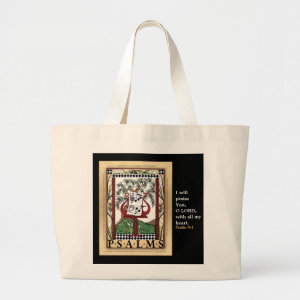 Book of Psalms tote bag bag