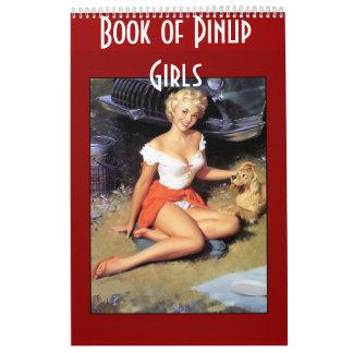 Book of Retro Pinup Girls 14 Images Calendar