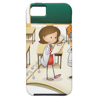Book of scientists working in the class iPhone SE/5/5s case