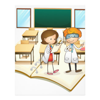 Book of scientists working in the class letterhead