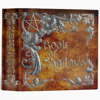Book Of Shadows Amber with Silver Highlights 3 Ring Binder