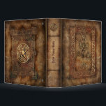"""Book of Shadows Binder<br><div class=""""desc"""">This binder features a rich printed cover of an ancient leather-bound Book of Shadows.  Perfect for keeping your spells organized.  Available in two colors.  See other designs in our store.</div>"""