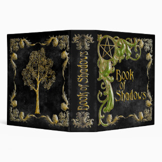 Book Of Shadows Black with Gold & Green Highlights Binder