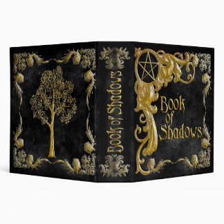 Book Of Shadows Black with Gold  Highlights Binder